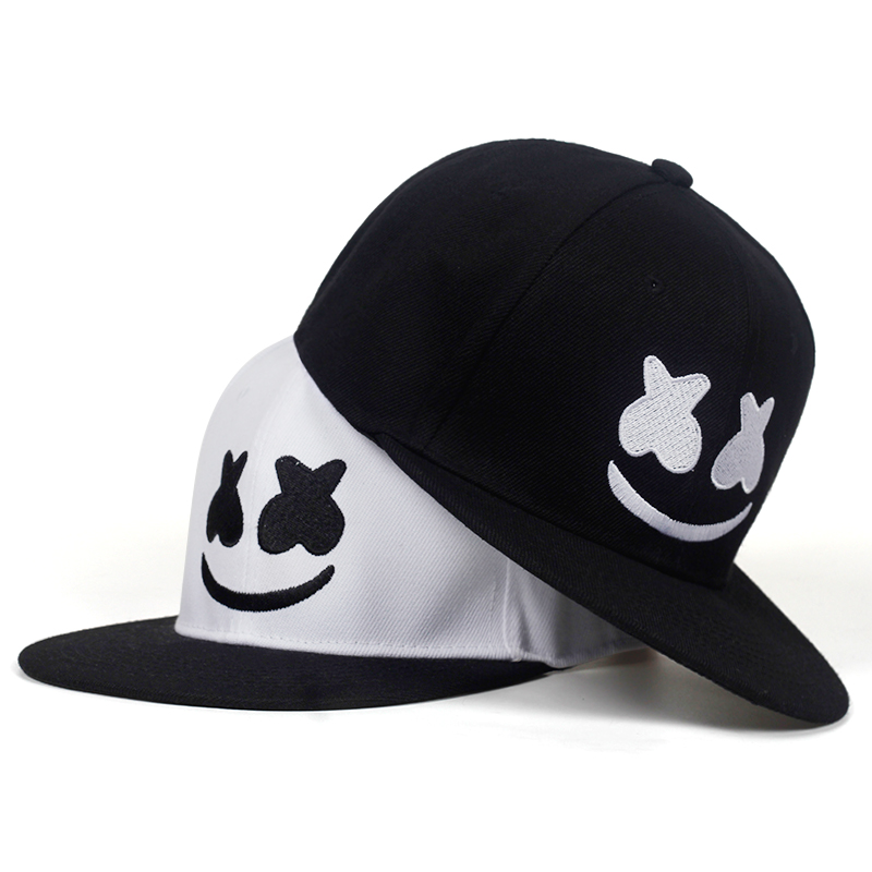 ff4a0790e5d34 2019 new high quality Cartoon smiley embroidery cap hip hop snapback caps  caps men women hat