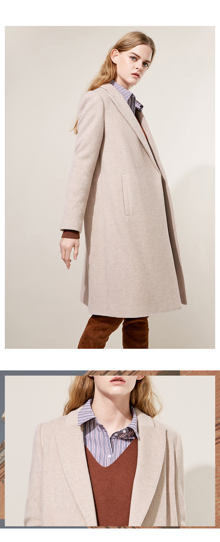 ONLY 19 Autumn Winter New Women Wool Coat Double-breasted Woolen Coat |118427502 20