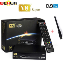 2pcs/lot V8 Super decoder tv Receiver HD Satellite Receiver DVB-S2 tv Tuner openbox v8 Super Combo Support USB wifi set top box