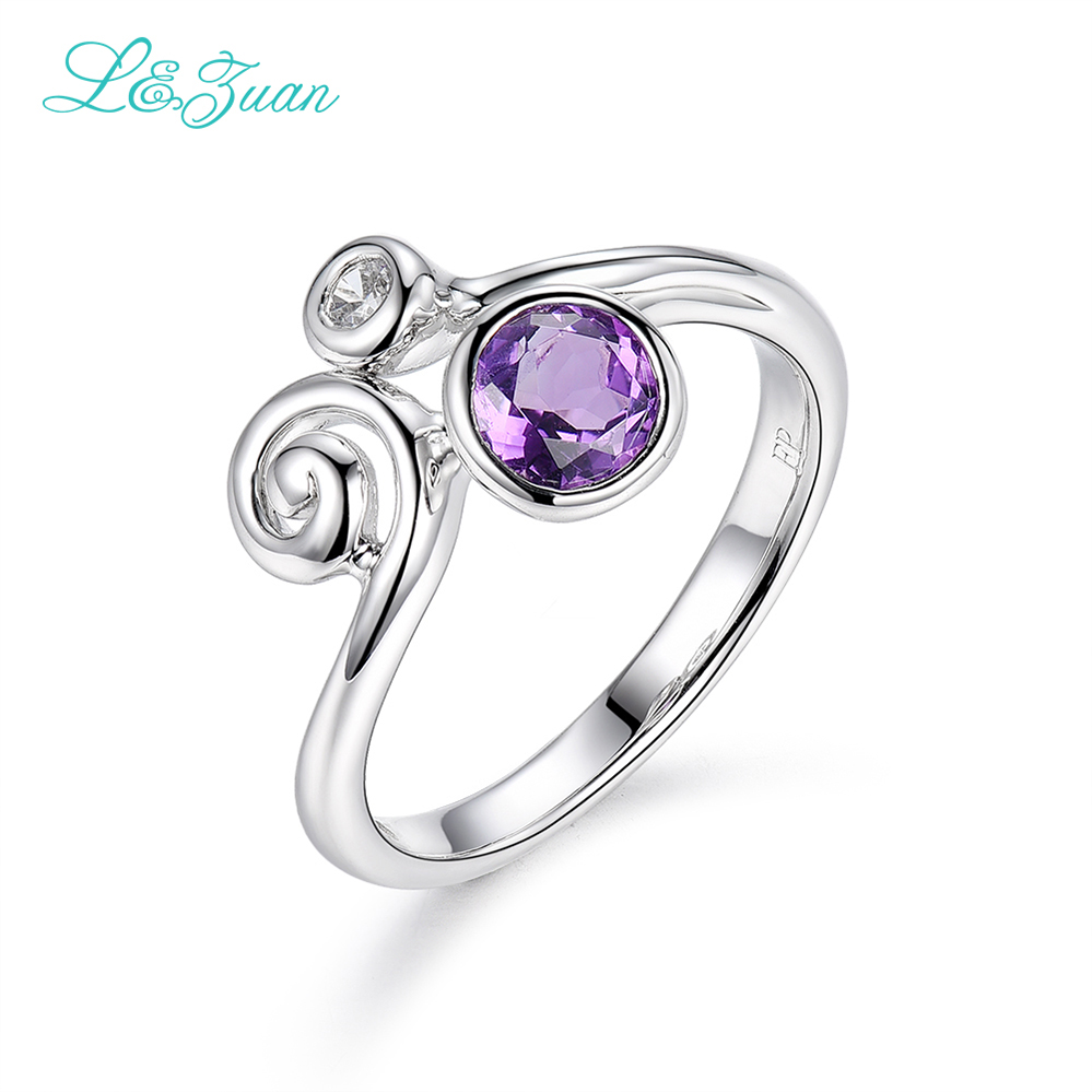 I & Zuan bílé zlato 925 mincovní stříbro šperky prsteny pro ženy ametyst fialový kamenný prsten jemné šperky módní doplňky 1269