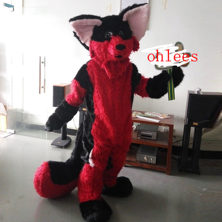 ohlees Actual real photo picture Chihuahua Luxury Fox Dog cartoon character Mascot Costumes Halloween Christmas Birthday