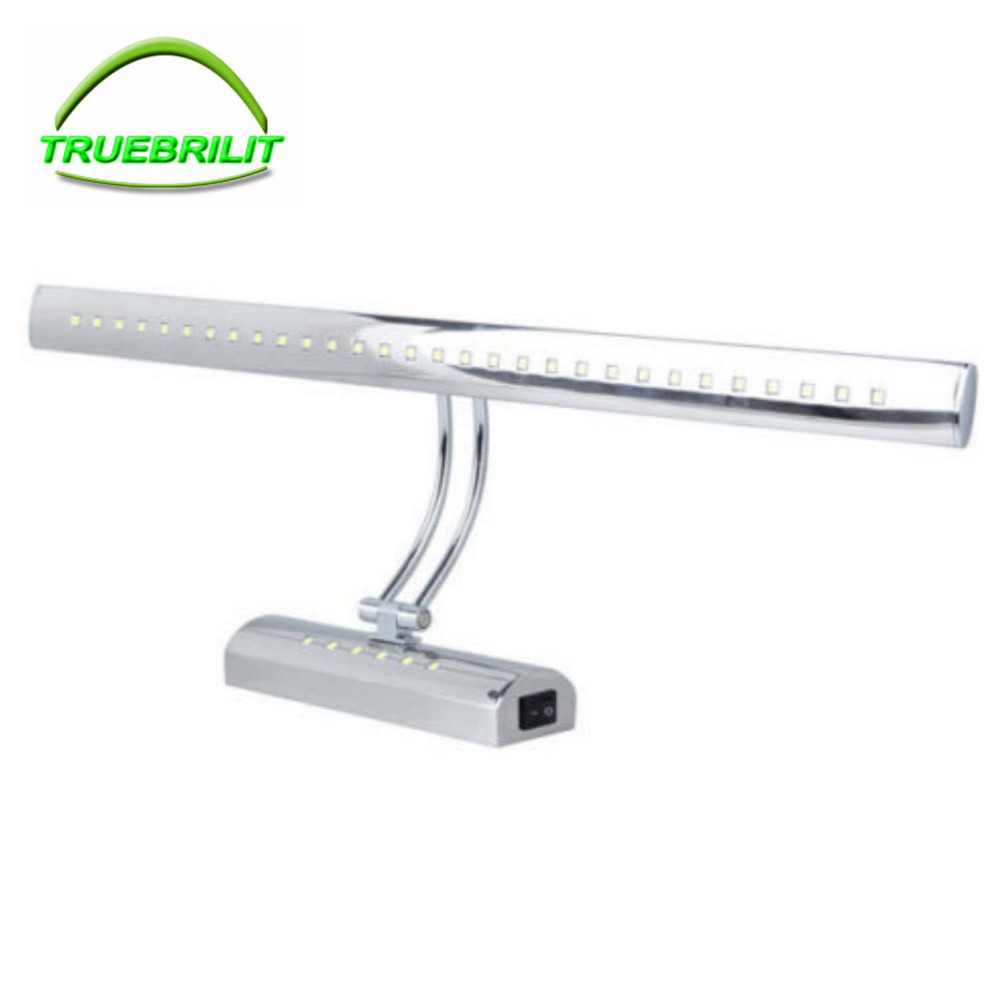 Led Bathroom Wall Lights 5W 40cm 7W 55CM Stainless steel Dressing Table Mirror Sconces LED Light Lamps luminaire Waterproof IP65 7w 55cm bathroom led mirror lights waterproof 220v stainless steel sconces led makeup mirror mounted wall lamps