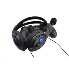 Wired Gaming Chat Headset Headphone stereo super bass game headphones with MIC Microphone for Sony Playstation 4 PS4 Black