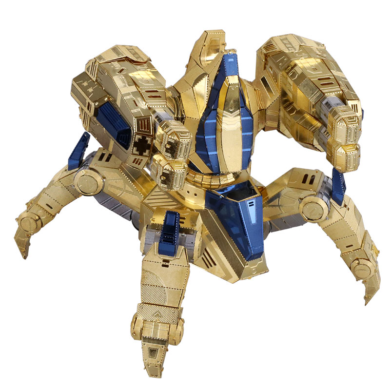 2019 Fashion Mmz Model Mu 3d Metal Puzzle Star Craft Protoss Immortal Model Kit Ym-n029 Diy 3d Laser Cut Assemble Jigsaw Toys For Kids
