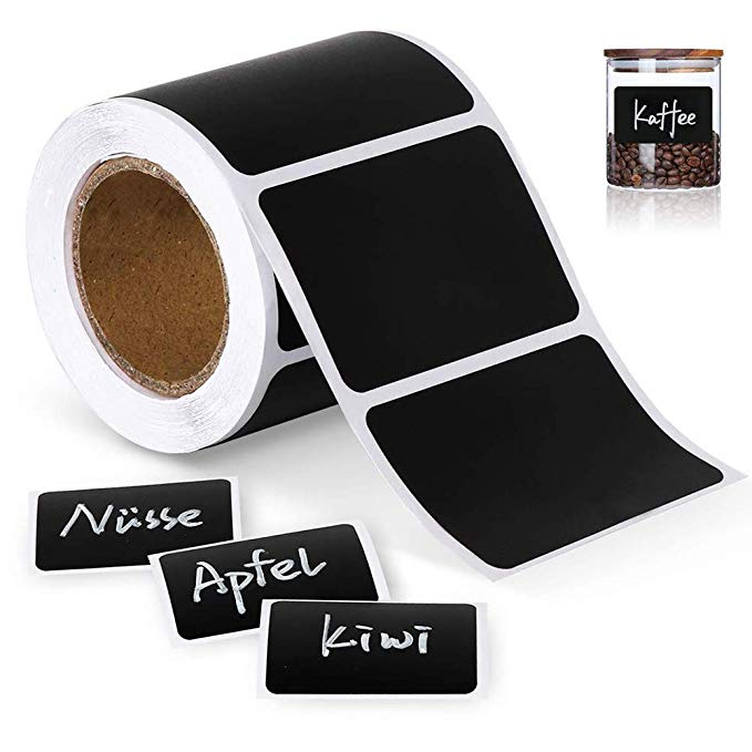 120Pcs/Roll Chalkboard Labels Sticker Pantry And Storage Stickers For Kitchen Jars Removable Waterproof Blackboard Sticker Label