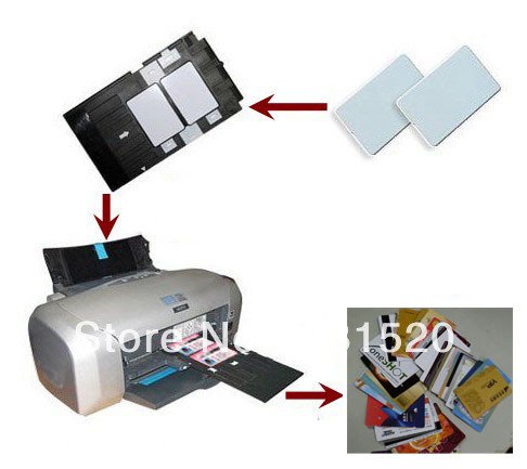 ФОТО Double Side Direct Inkjet Print Blank White ID PVC cards 0.76mm Thick used in Home Epson Inkjet Printer, 230pcs/lot