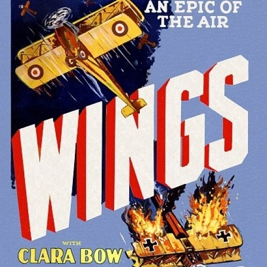 Wings Movie Clara Bow Gary Cooper Poster Print (36 x 54)