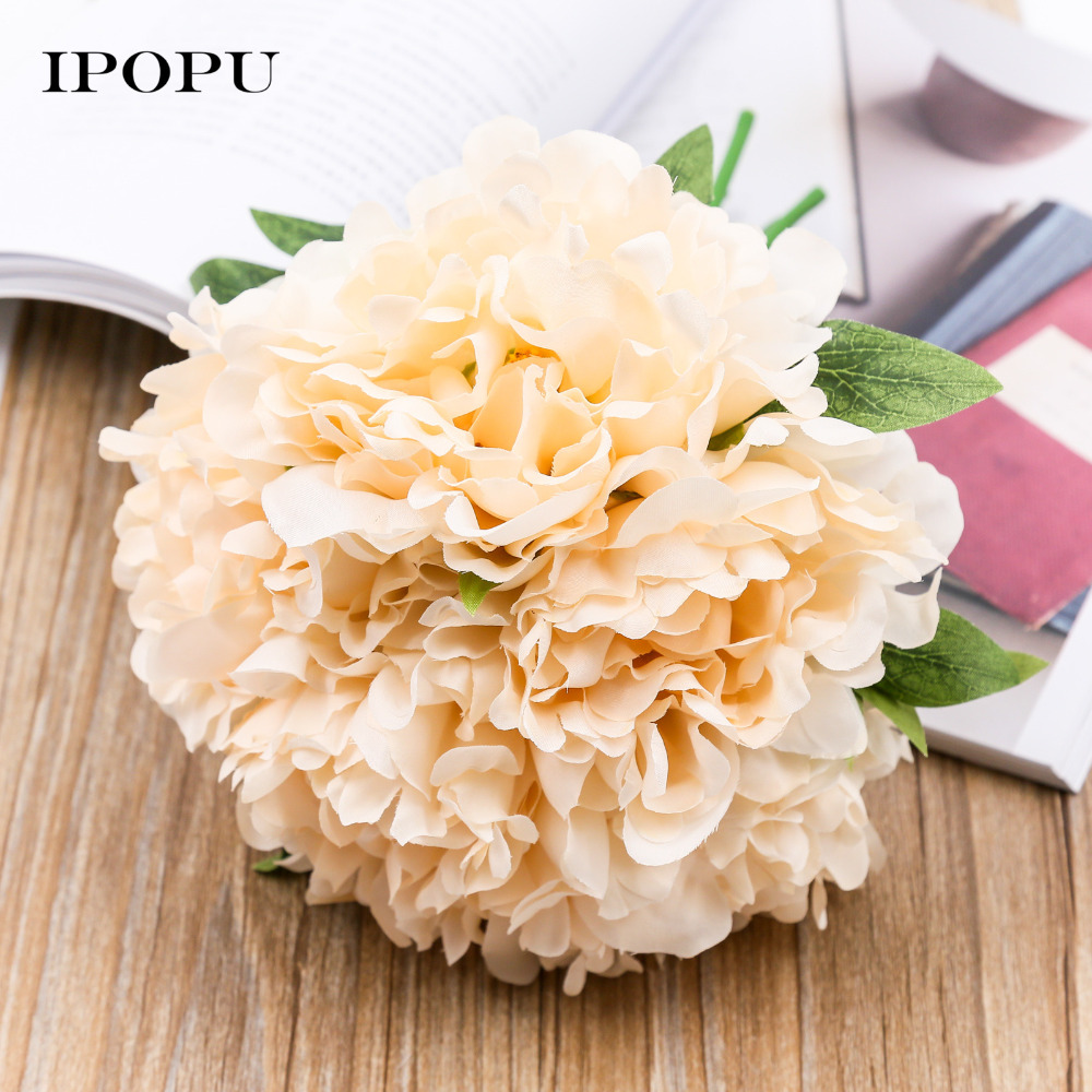 1pc Peony Silk Artificial Flower Bridal Bridesmaid Hydrangeas