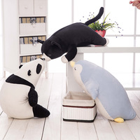 Giant Soft Stuffed Panda Penguin Sea Lions cat Soft Plush Toys for Children Stuff Animal Pillow Cushion Playmate Christmas Gift