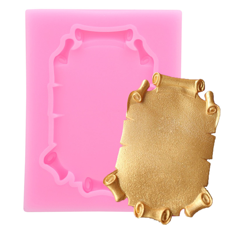 Mirror Frame Shape Silicone Cake Mold for Cake decorating DIY Chocolate Fondant Mold Kitchen Baking Tools