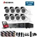5MP CCTV System 8CH DVR kit 8Pcs 5MP geringer beleuchtung Kamera indoor Outdoor Dome AHD CCTV Kamera System XMeye remote View