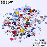 Mix Size Mix Colors Non HotFix Flatback Nail Art Rhinestones For Clothes Shoes Decoration And DIY Design