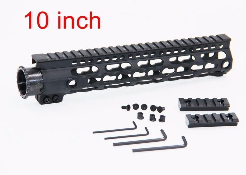 10 10 inch Light Weight Picatinny Rails Aluminum One Rail Float Handguard Quad Rail for AEG M4 M16 AR15 for Hunting Shooting hunting picatinny rail 4 25 inch handguard rail cqb tactical rail systems for aeg m4 m16