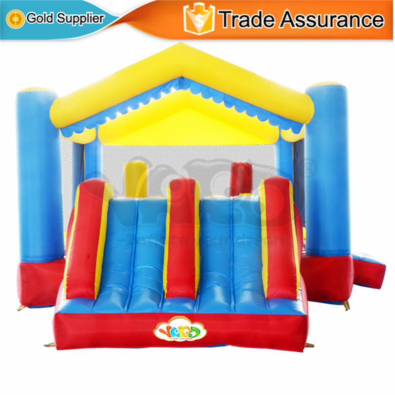 YARD Home Use Inflatable Toys Dual Slide Bounce House Kids Outdoor Jumping Castle for Party 1 pair 02168 hsp rc 1 10 model 4wd on road car off road truck wheel axle 94122 94166