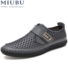 MIUBU Men Casual Shoes Hot Sale 2019 Summer Breathable Mesh Comfortable Moccasins Fashionable Big Size 38-46
