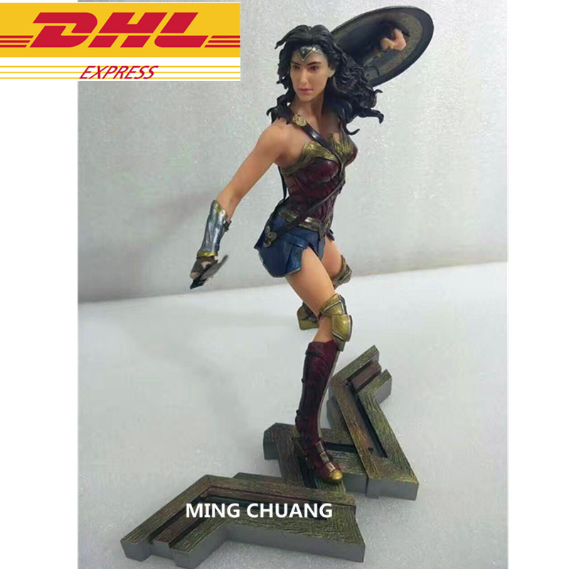 Justice League Statue Superhero Wonder Woman Bust Superman Partner Full-Length Portrait PVC Action Figure Collectible Model Toy women fashion round toe martin boots woman brand new lace up flat ankle boot ladies buckle wrap footwear shoes size 34 47