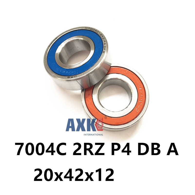 1 Pair AXK 7004 7004C 2RZ P4 DB A 20x42x12 20x42x24 Sealed Angular Contact Bearings Speed Spindle Bearings CNC ABEC-7 1pcs 71822 71822cd p4 7822 110x140x16 mochu thin walled miniature angular contact bearings speed spindle bearings cnc abec 7