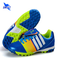 2017 New Style Kids Turf Soccer Boots Size 32-39 Children TF Football Shoes Cheap Women Futsal Cleats 2 Colors Sports Sneakers