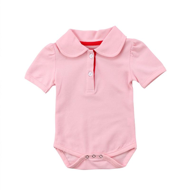 Newborn Baby Boys Girls Polo Shirt Short Sleeve Summer Infant New