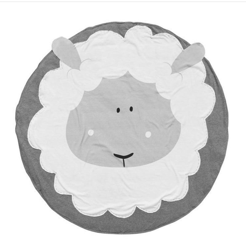 95 см детская игра коврики круглый коврик, мат хлопок Лебедь Ползания одеяло пол ковер для детской комнаты украшения INS подарки для малышей - Цвет: Sheep