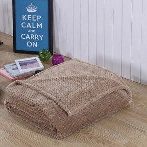 Image 1 - CAMMITEVER Korallen Fleece Decke Ananas Flanell Decken Werfen auf Bett Sofa Bettdecken Plaids Twin Königin