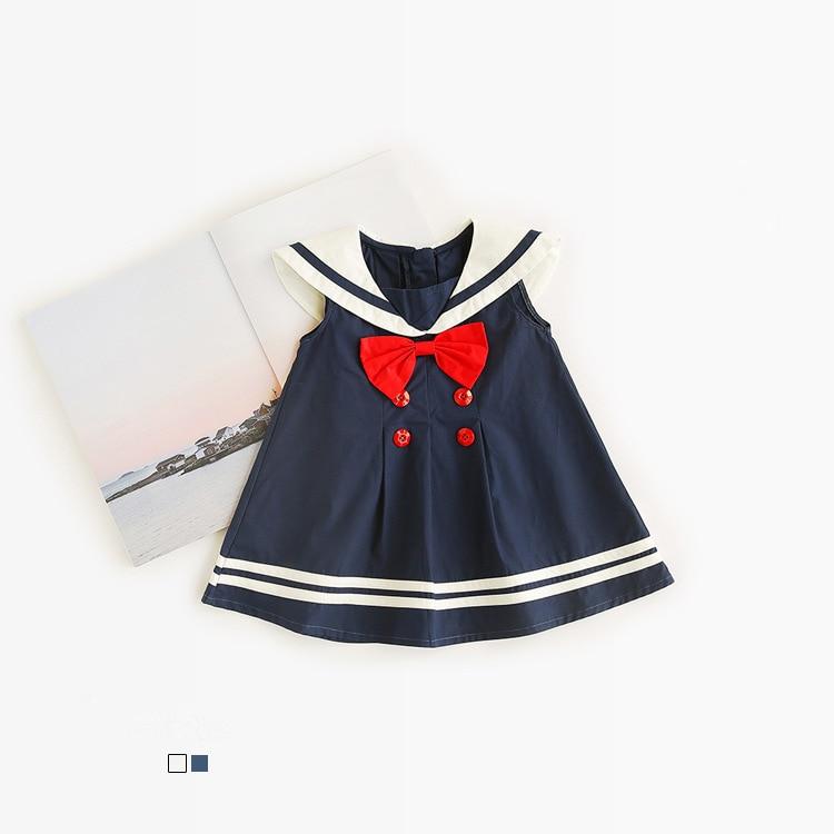 Celveroso nowa letnia dziewczynka Sukienka Bawełniana kokarda Baby - Ubrania dziecięce - Zdjęcie 2