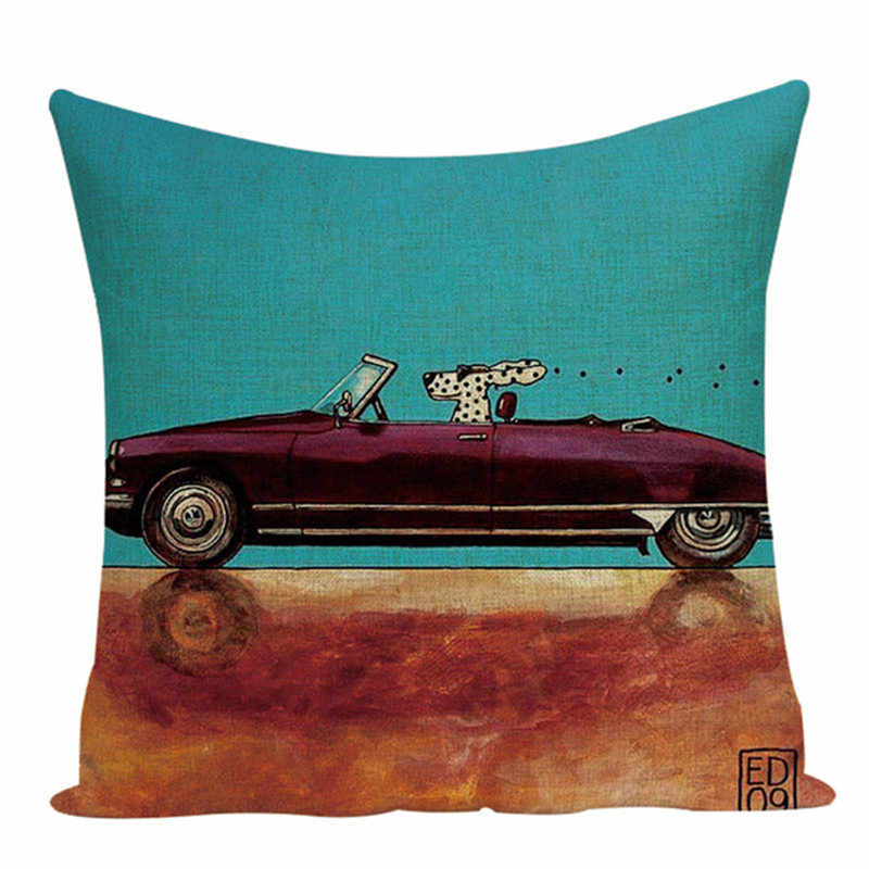 รถการ์ตูนหมอนกลางแจ้ง cushions คุณภาพสูงโยนหมอนสุนัขน่ารักพิมพ์หมอนอิงตกแต่ง Custom cover cushion