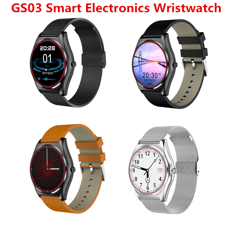 2017 NEW Bluetooth Smart Watch GS03 Smart Electronics Wristwatch Sport Watch For Android Smartphone Health Smartwatch Bluetooth