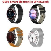 2017 NOVO GS03 Eletrônica Inteligente Do Bluetooth Relógio Inteligente Relógio de Pulso Do Esporte Relógio Para Android Smartphones Saúde Smartwatch Bluetooth