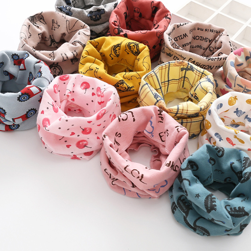 Spring And Autumn Winter Scarf Fashion Wrap Collar Children's Scarves Pure Cotton Neck Cover Baby Changeable Neckerchief Trend