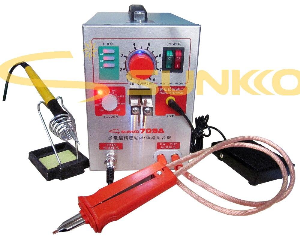 220 V/110 V 1.5KW SUNKKO 709A batería lugar soldador con HB-70B soldador de la pluma para 18650 Estación de soldadura punto máquina de soldadura