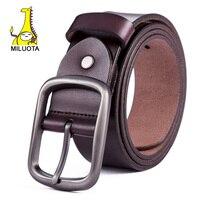 [Miluota] 2015ファッションデザイナーベルトトップ品質メンズベルト高級本革ベルトブランドcinto masculino WND003