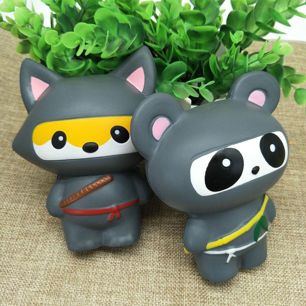 Mobile Phone Straps Purposeful New Animal Jumbo 14cm Kawaii Ninja Squishy Panda/bear/fox Bread Soft Slow Rising Fun Kid Toys Sweet Charm Cartoon Cake Wholesale