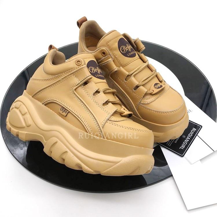 Des Casual as forme Sneakers 2018 Tenis Archlight Piste Nouveau Appartements Dentelle Femmes Feminino Épais As Show Plate Chaussures Creepers Show Femme Up RqIYx7S