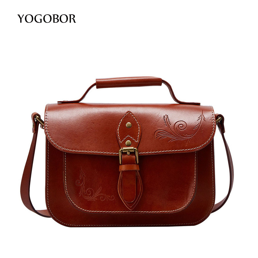 New Arrival Vintage Tote Bags Women Genuine Leather Handbags Ladies Retro Shoulder Bags Large Capacity Casual Top-Handle Bags hot new arrival vintage tote bag women leather handbags ladies party shoulder bags fashion top handle bags ladies cute bear drop