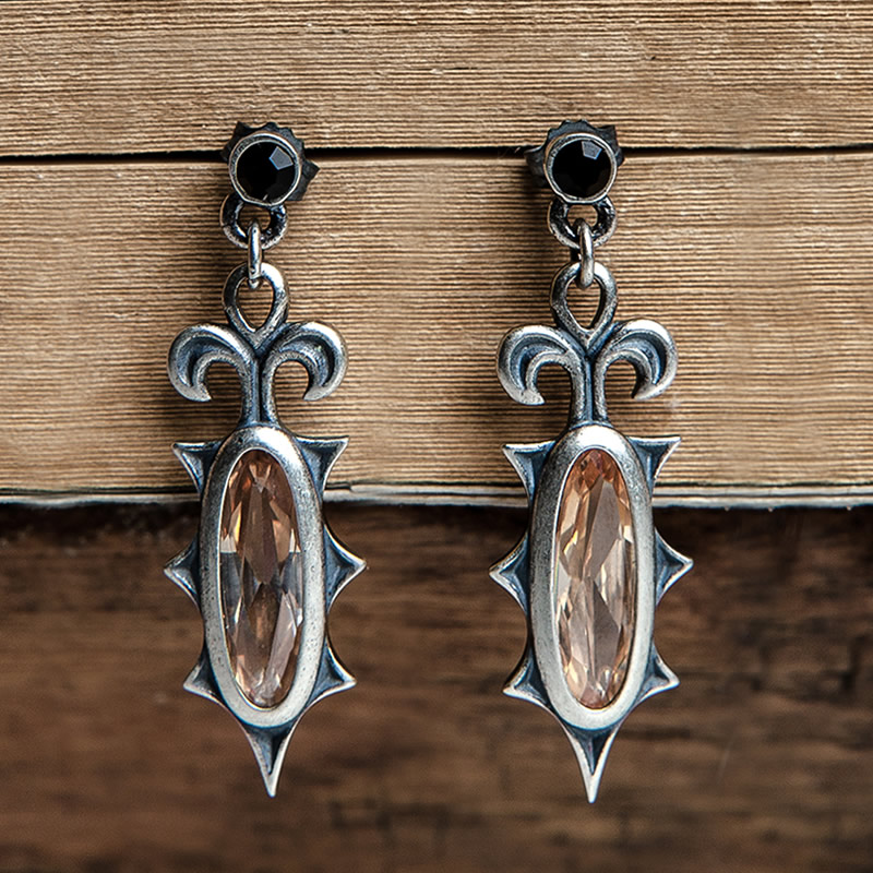 Vintage Sterling Silver Earring Dangle Earring for Women SS 005