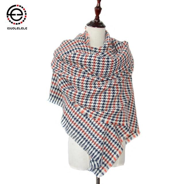 IDUOLELELE  Big size women Scarves & Wraps For Winter Tartan Plaid Cashmere fashion Scarfs Pashmina Wholesale