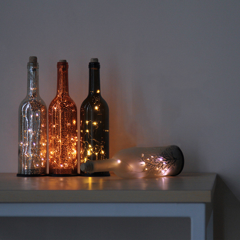 LED Strip Starry Wine Bottle Lamp Battery Night Light Decorative Atmosphere  Table Lamp Restaurant Living Room Bedroom Bedside In LED Night Lights From  ...