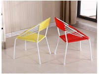 Cafe House Chair Restaurant PE Rattan Seat Study Boy Girl Reading Chair Stool Free Shipping