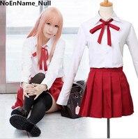 Himouto! Umaru chan Cosplay Umaru Doma School Uniform Set Suit Full shirt + skirt + tie +Sock Costume Dress