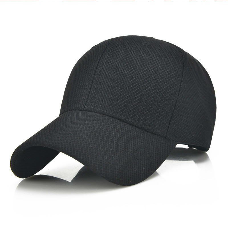 2018 Men Cotton Breathable Mesh   Cap   Unisex Women   Baseball     Cap   Bone Snapback Golf Hats Black Gorras   Cap   Summer Hat Outdoor