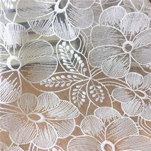 2yards Fashion high-end lace White Mesh jacquard embroidery tulle fabric dress skirt diy craft clothes accessories MT25