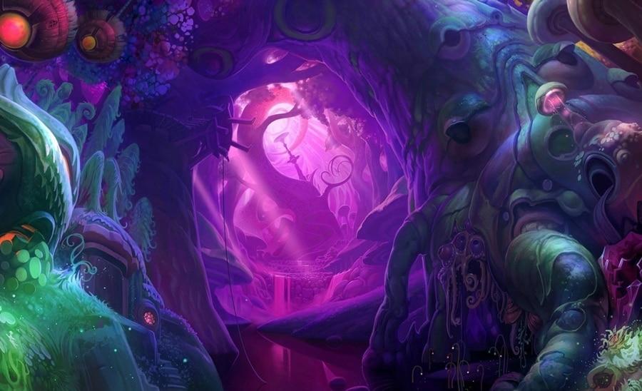 Fantasy Art Psychedelic Cave Unusual Creature Living Room