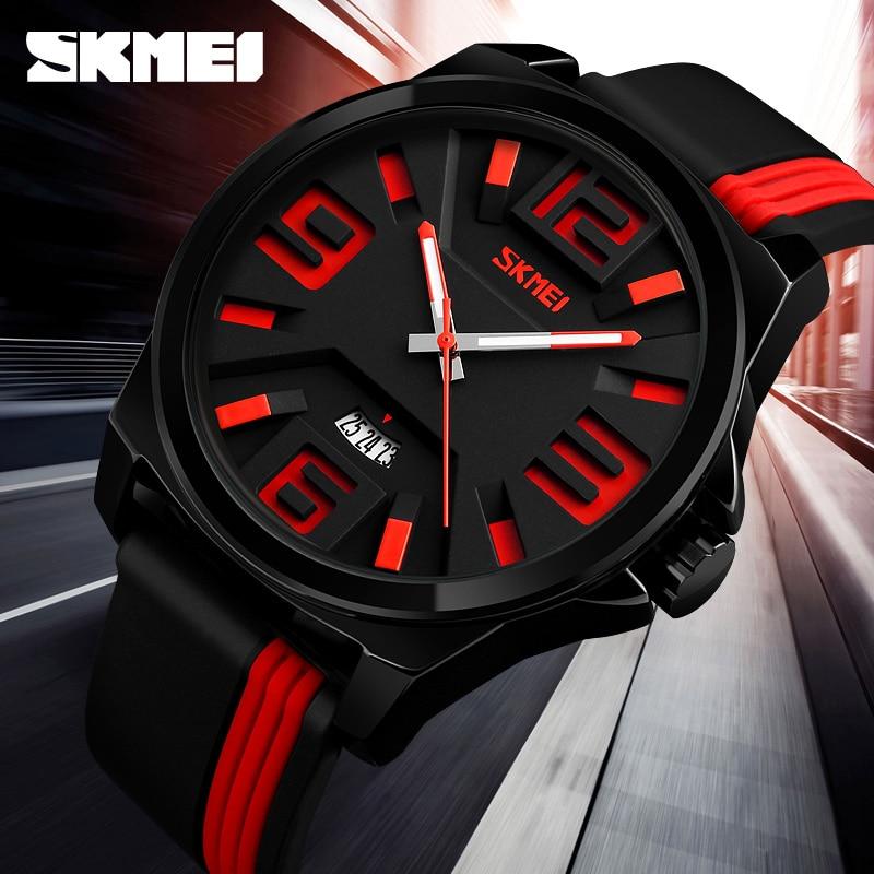 SKMEI Quartz Watches Men Big Dial Date 30M Waterproof Sport Men's Wrist Watch Watches Men Fashion Watch 2018 Relogio Masculino струбцина stayer f образная 50х250мм 3210 050 250 page 1