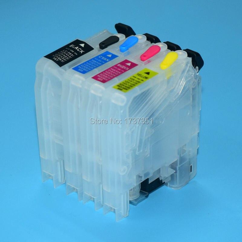 Заправляемый чернильный картридж LC123 для Brother MFC-J4510 J4610 J4710 J4110 J4410 J552 J752 J470 J870 J650 J132 J152 J6520 J6720 J6920