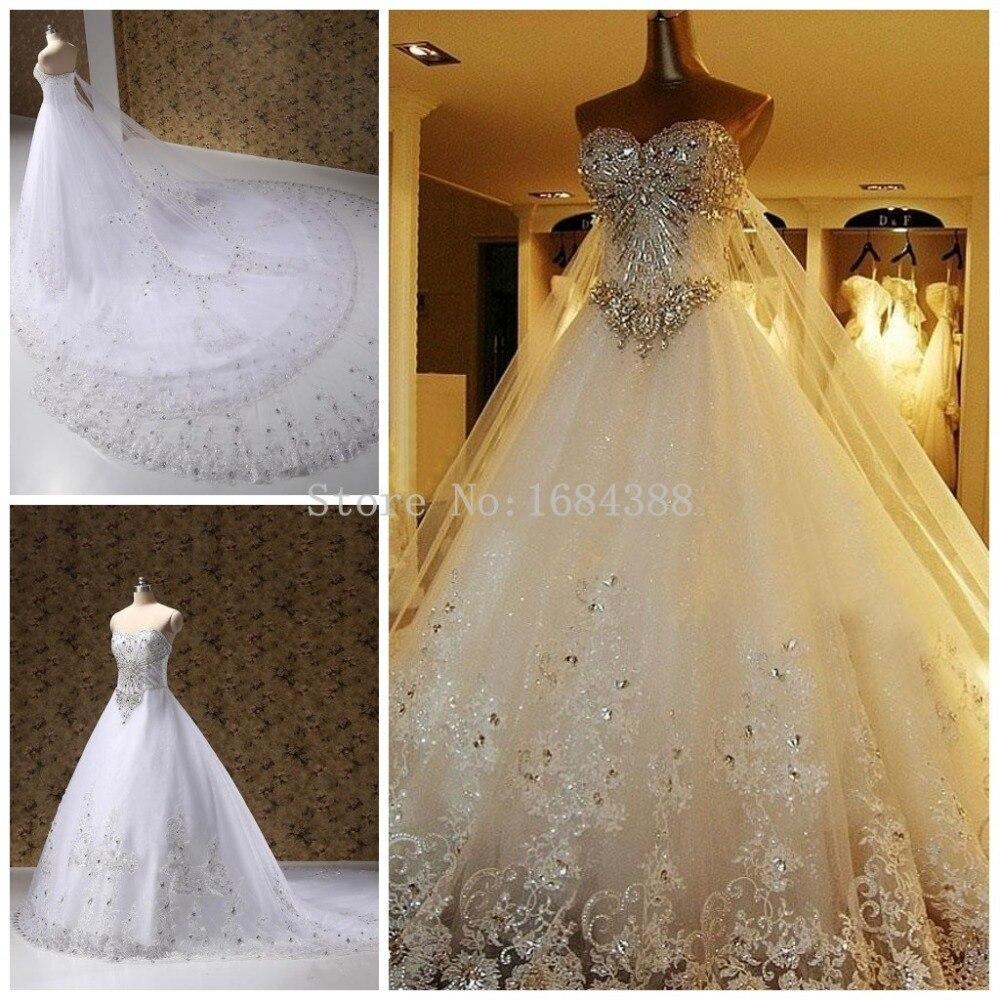 New Luxurious Stunning Princess A Line Wedding Dresses