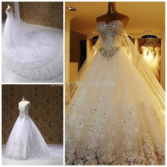 nuevo lujo impresionante princesa una línea de vestidos 2015 hechos