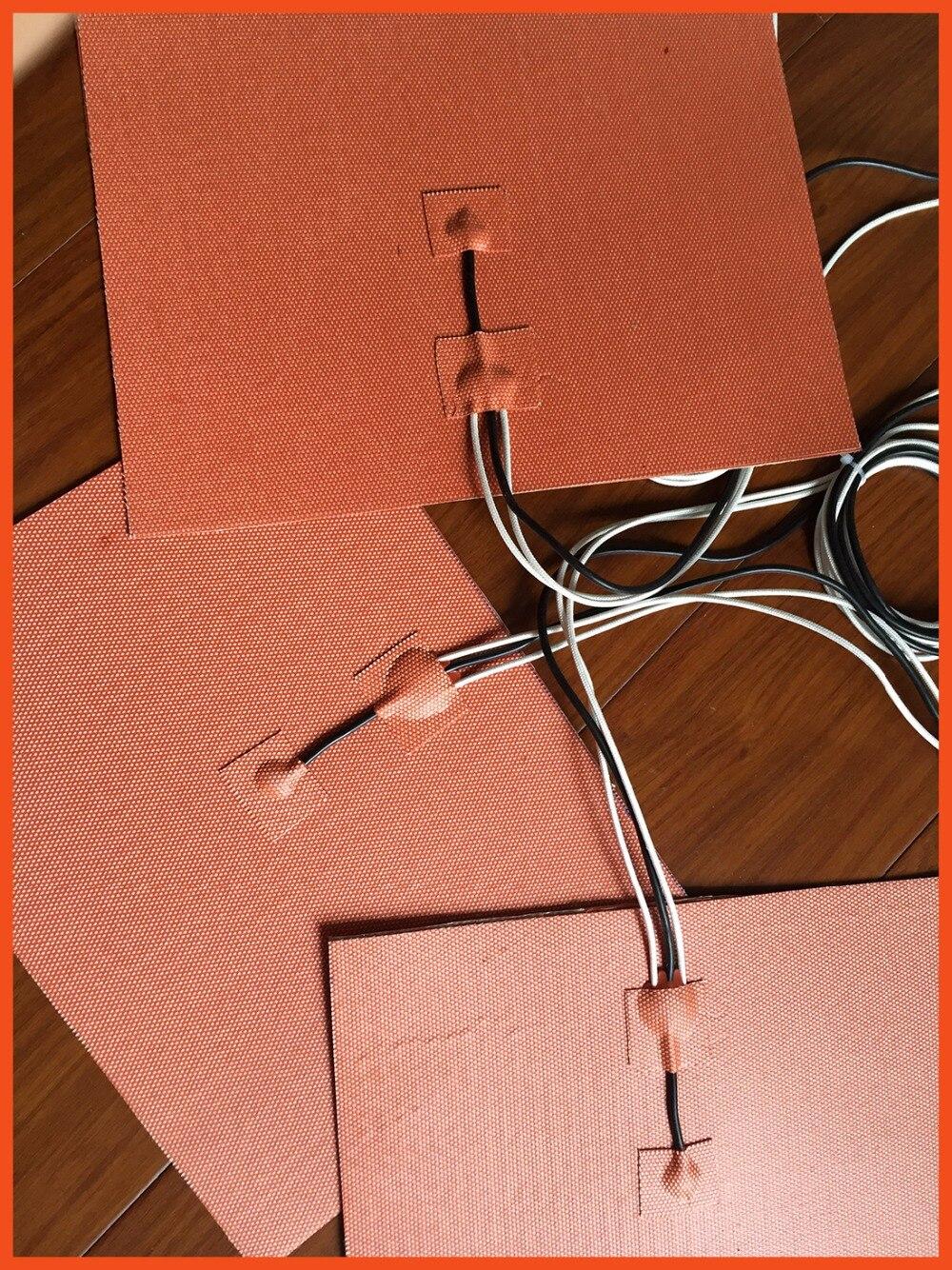 spedizione gratuita stampante 3d letto riscaldato siicone riscaldatore 300 x 300mm 24v 250w silicone heated bed heating element dia 400mm 900w 120v 3m ntc 100k round tank silicone heater huge 3d printer build plate heated bed electric heating plate element