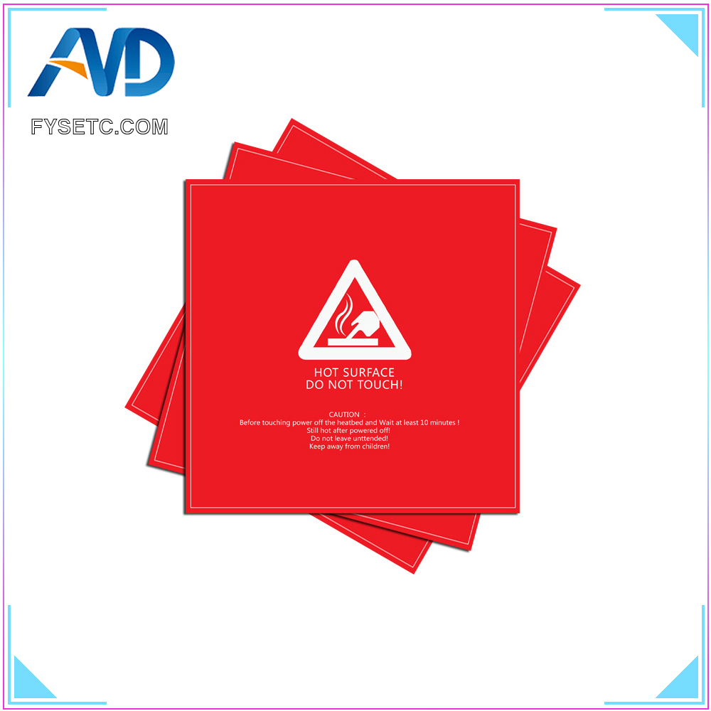 1pc New Arrival 214*214mm/8.45''*8.45'' Red Frosted Heatbed Sticker 3D Printing Build Plate Tape For 3D Printer Heating Table