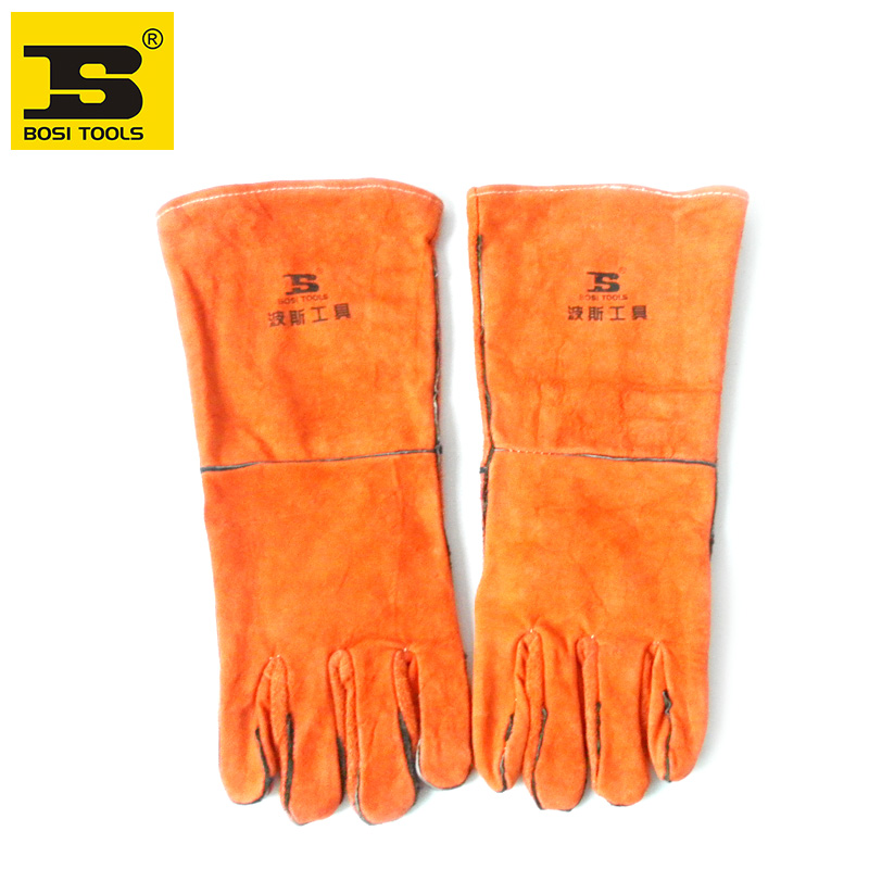 """free shipping BOSI 15"""" safety welding work gloves"""